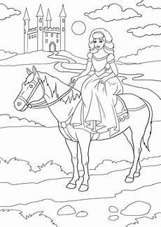 Ausmalbild Prinzessin Pferd Schloss Gratis Malvorlagen Prinzessin Schloss Kostenlose