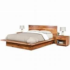 california king size solid wood platform bed frame