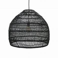 Black Rattan Ceiling Light Woven Wicker Ceiling Pendant Light Natural Love Frankie