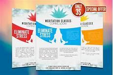 Flyer Design Examples Yoga Flyer Template Flyer Templates Creative Market