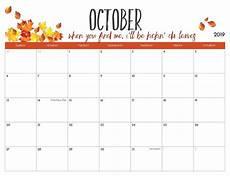 October Calendar October 2019 Calendar Canada Public Holidays Magic