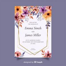 Free Invitation Cards Templates Wedding Invitation Card Template Vector Free Download