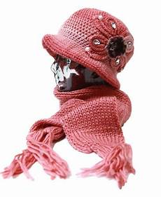 Designer Hat And Scarf Set Women S Women S Ladies Knitted Warm Flower Hat And Neck Scarf