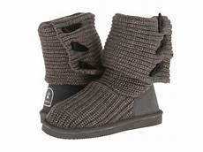bearpaw knit boot 658w gray 100 authentic