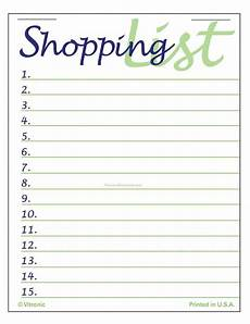 Easy Shopping List Template Step 7 Of Nanowrimo Planning Your Shopping List Fight