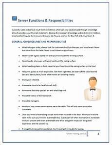 Staff Training Manual Template Restaurant Training Manual Templates
