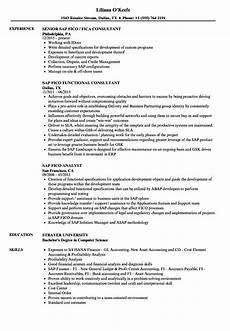 Sap Consultant Resume Sap Fico Resume Samples Velvet Jobs