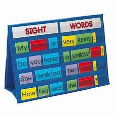 Sight Words Pocket Chart Smethport 783 Tabletop Pocket Chart Sight Words Walmart Com