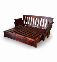 cinnamon storage wooden sofa bed with mudramark by
