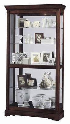 wood curio cabinets dublin model cherry finish