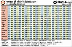 Train Chart Download Indian Railway Time Table Chart Download 2020 Printable