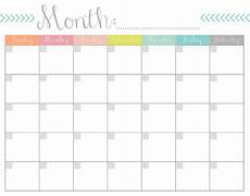Month Printable Calendar Monthly Calendar Free Printable