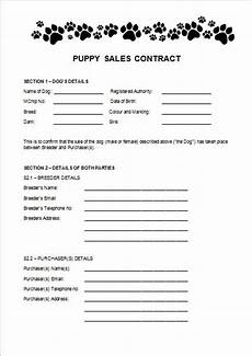 Puppy Contract Of Sale Items Similar To Puppy Sales Contract On Etsy