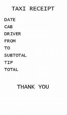 blank cab receipt template blank taxi receipt