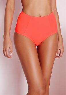 Light Pink High Waisted Bottoms Lyst Missguided High Waisted Bottoms Coral Mix