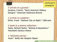 Mla Source Cite How To Cite Sources In Mla Format With Pictures Wikihow