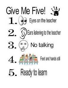 Give Me Five Rules Give Me Five Poster That Is Printable Give Me Five