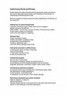 Essay Words To Use Useful Argumentative Essay Words And Phrases