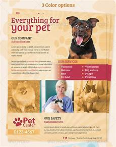 Pet Flyer 20 Amazing Pet Service Psd Flyer Templates Print Idesignow