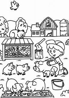 gratis malvorlage bauernhof kinder ausmalbilder