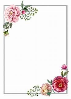 Flower Design For Cards Floral Roses Invitation Card Molduras Para Convites De
