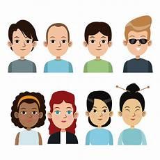 pessoas de desenho animado meninos e meninas juntas