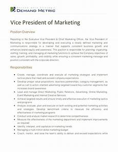 Vice President Of Manufacturing Job Description Vice President Of Marketing Job Description