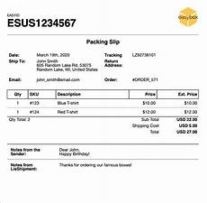 Packing Slip Example Packing Slips Customization Amp Examples Easyship Support