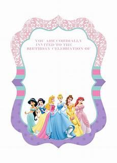 Princess Party Invitations Printable Free Free Printable Disney Princess Birthday Invitations