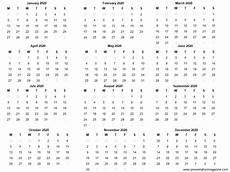 2020 Mini Calendar Printable Free 2020 Printable Calendar Template