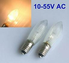 E10 Candle Light Bulbs 30pcs E10 Led Replacement Bulbs Top Candle For Fairy Light