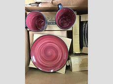 McLeland Design 16 Pc. Dinnerware Set ? Wine/Black   End