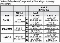 Jobst Compression Measuring Chart Jobst Vairox 30 40 Mmhg Open Toe Knee Highs With Zipper
