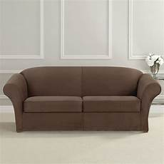sure fit ultimate heavyweight stretch suede sofa slipcover