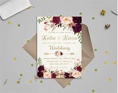 Design Printable Invitations Floral Wedding Invitation Template Wedding Invitation