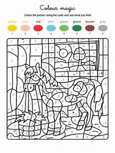 colour by numbers un poney