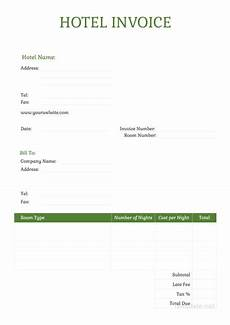 Accommodation Invoice Template Free Sample Hotel Invoice Template Download 93 Invoices