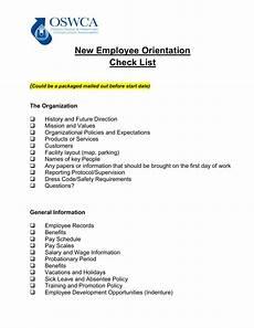 Employee Expectation List New Employee Orientation Checklist