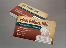 Bbq Business Cards Pork Barrel Bbq Red Chalk Studios Creative Branding
