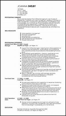 Resume For Hotel Free Professional Hotel Amp Hospitality Resume Templates