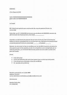 Ejemplos De Cartas De Peticion Derecho De Petici 243 N Ejemplo De