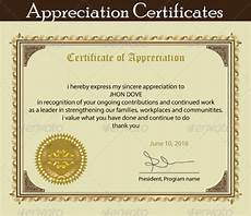 Appreciation Certificates For Employees 18 Employee Certificate Of Appreciation Designs