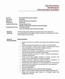 Medical Assistant Duties And Responsibilities List Free 8 Sample Bookkeeper Job Description Templates In Pdf