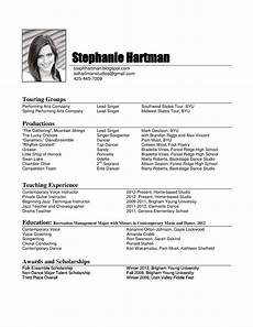 How To Make A Performance Resumes Dance Resume Template Playbestonlinegames