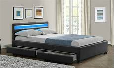 king size bed frame with 4 drawers storage led