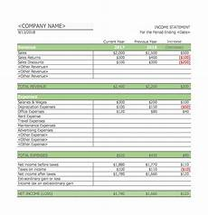 Income Statement Example Excel 41 Free Income Statement Templates Amp Examples Templatelab
