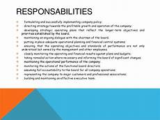 Deputy Ceo Roles And Responsibilities The Responsibilities Of A Managing Director Ceo