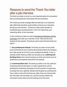 Thank You Letter After Job Fair Thank You Letter After A Job Interview