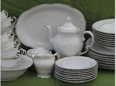 ornate white w/ gold Casa Oro Polish china dinnerware