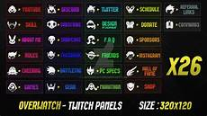 overwatch twitch panels by lol0verlay twitch